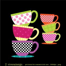 Tea Cup clipart stacked