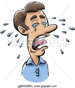 Man Crying Clipart