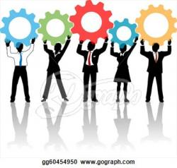 Technology clipart corporate team
