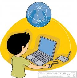 Surfing clipart computer