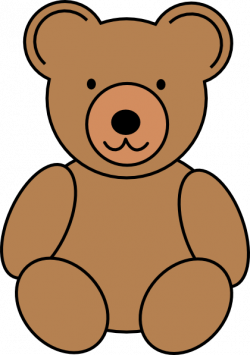 Line Art clipart teddy bear
