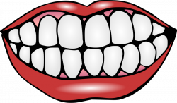 Lips clipart toothy smile