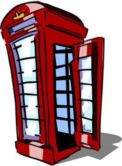 Telephone Booth clipart
