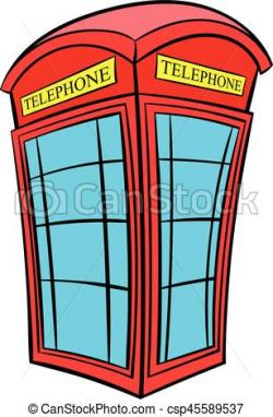 Telephone Booth clipart cartoon