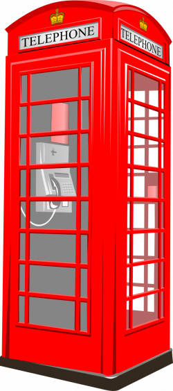 Telephone Booth clipart england