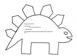 Stegosaurus clipart black and white