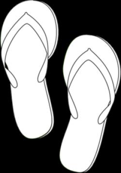 Templates  clipart flip flop