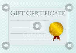 Templates  clipart gift certificate