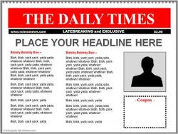 Templates  clipart newspaper front page