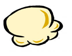 Drawn popcorn one piece