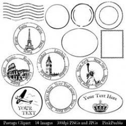 Postcard clipart postmark