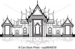 Temple clipart black and white