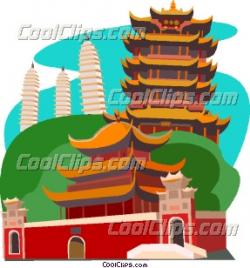 Temple clipart chinese culture