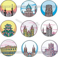 Temple clipart towers