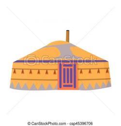 Mongolian clipart yurt