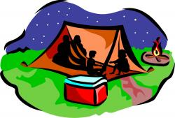 Camp Fire clipart family camping