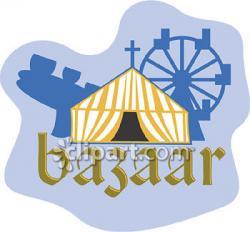 Tent clipart bazaar