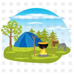 Bonfire clipart tent