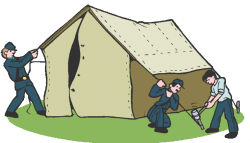 Civil War clipart tent