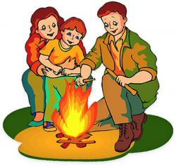 Campire clipart family camping