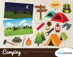 Tent clipart scout camp
