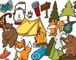 Bonfire clipart camping trip