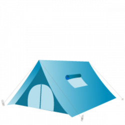 Tent clipart teal