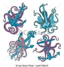 Tentacle clipart blue octopus