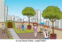 Terrace clipart courtyard