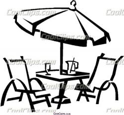 Terrace clipart patio