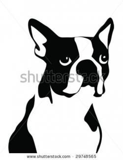 Boston Terrier clipart silhouette