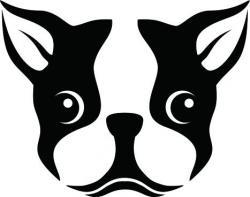 Boston Terrier clipart face