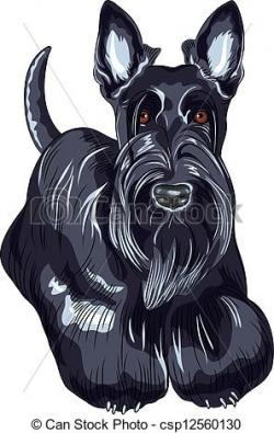 Scottish Terrier  clipart Scottish Terrier Cartoon