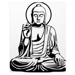 Buddha clipart black and white