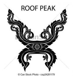 Thai clipart roof