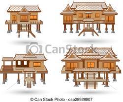 Thailand clipart thai house