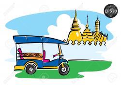 Thailand clipart tuk tuk