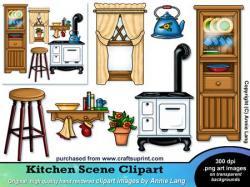 Kitchen clipart kitchen window