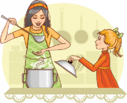 The Kitchen clipart mother daughter