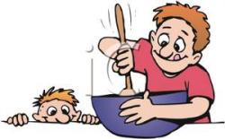 Baking clipart dad