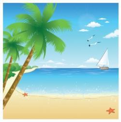 Seascape clipart pantai
