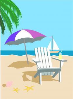 Coastline clipart beach scene