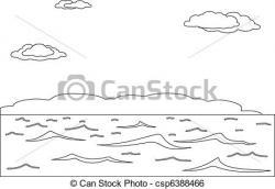 Monochrome clipart sea