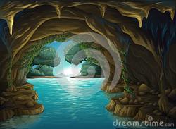 Cavern clipart underwater cave