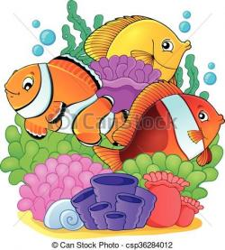 Coral Reef clipart illustration
