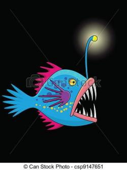 Anglerfish clipart deep ocean