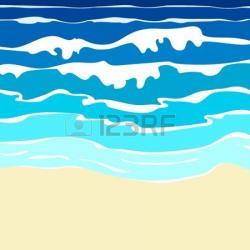 Shoreline clipart beach water