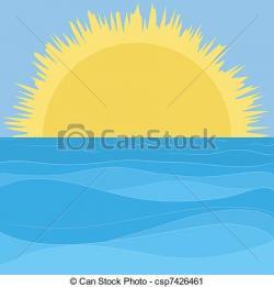 Horizon clipart sun sky