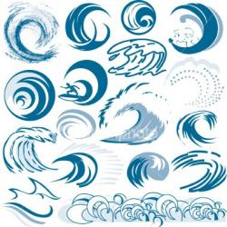 Monster Waves clipart wave pattern