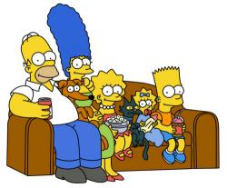 The Simpsons clipart animated family